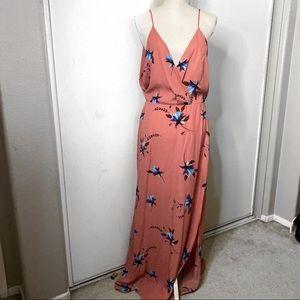 LUSH FRONT SLIT DRESS